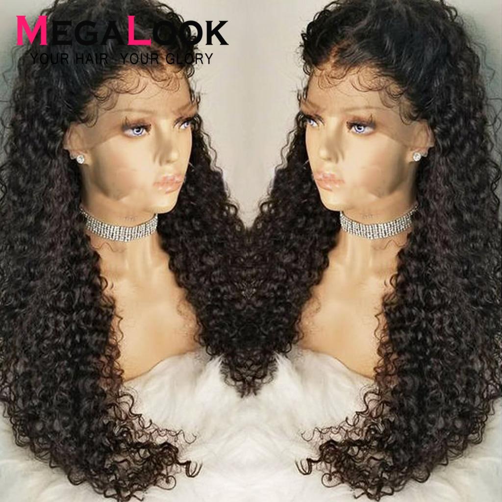 Кудрявые человеческие волосы парик кружева предварительно выщипанные отбеленные узлы парики перуанские 30 дюймов 13x4 13x6 кружевные передние ...