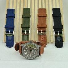 Vente en gros 100 pièces/lot. Bracelet de montre en Nylon de haute qualité 22 MM. Bracelet de montre étanche otan (noir, bleu, vert, marron)-9103
