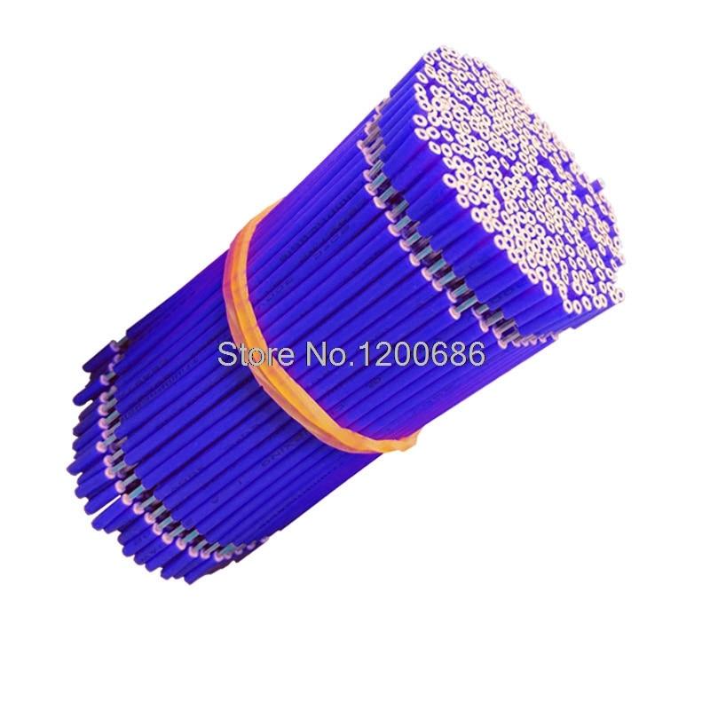 40CM 5 mm media tira UL 1007 18AWG azul 20 unid/lote super flexible 18AWG PVC aislado cable eléctrico, cable LED,