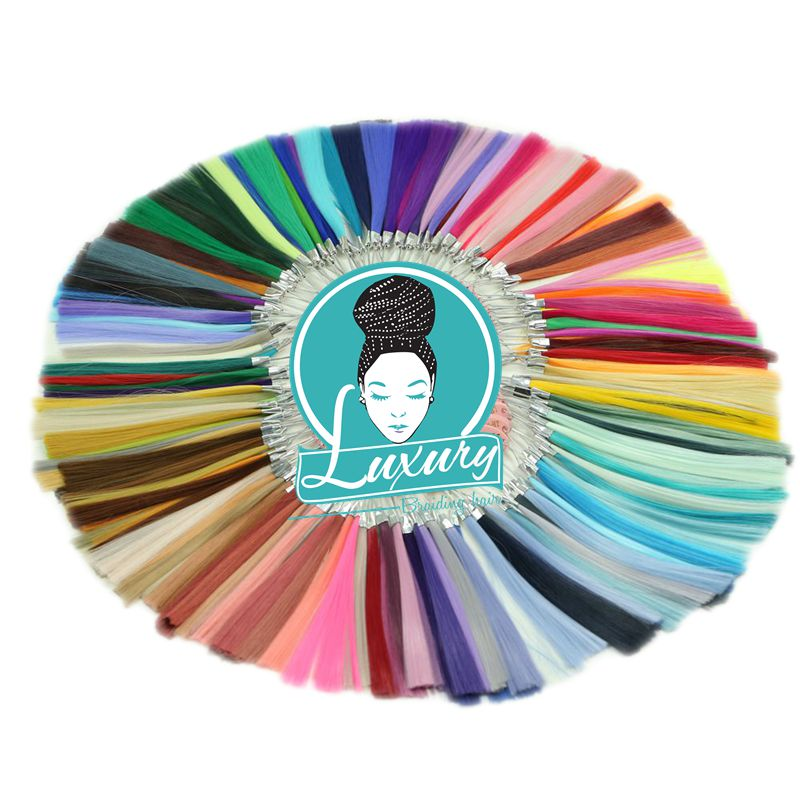 Luxury For Braiding Henlon High Temperature 154 Colors Synthetic Color Ring Chart  Palette for Custom Ombre Hair