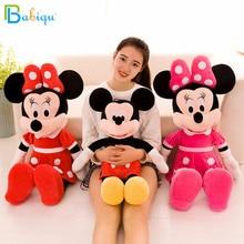 40-100cm mignon Mickey Mouse et Minnie Mouse jouets en peluche peluche dessin animé Figure poupées enfants bébé cadeau danniversaire de noël