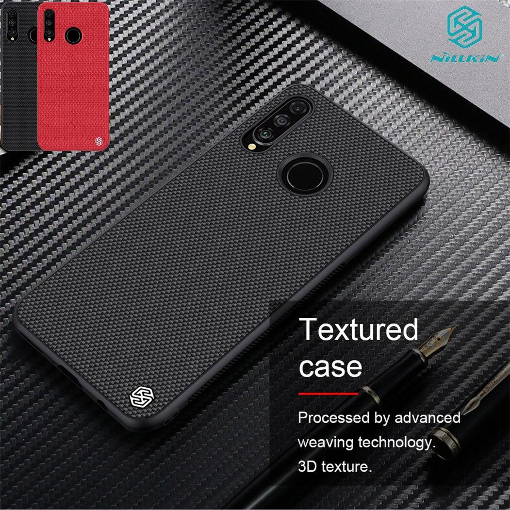 For Huawei P30 Lite Nova 4e Case NILLKIN Textured Nylon Fiber Case Thin and Light protector Back Cover for Huawei P30Lite Case