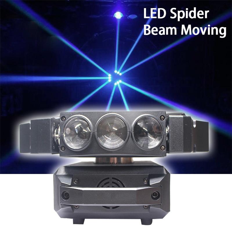 Alta calidad 9X12W Led Luz de araña DMX512 iluminación con cabeza giratoria RGBW LED haz club dj discoteca iluminación de escenario KTV lámpara