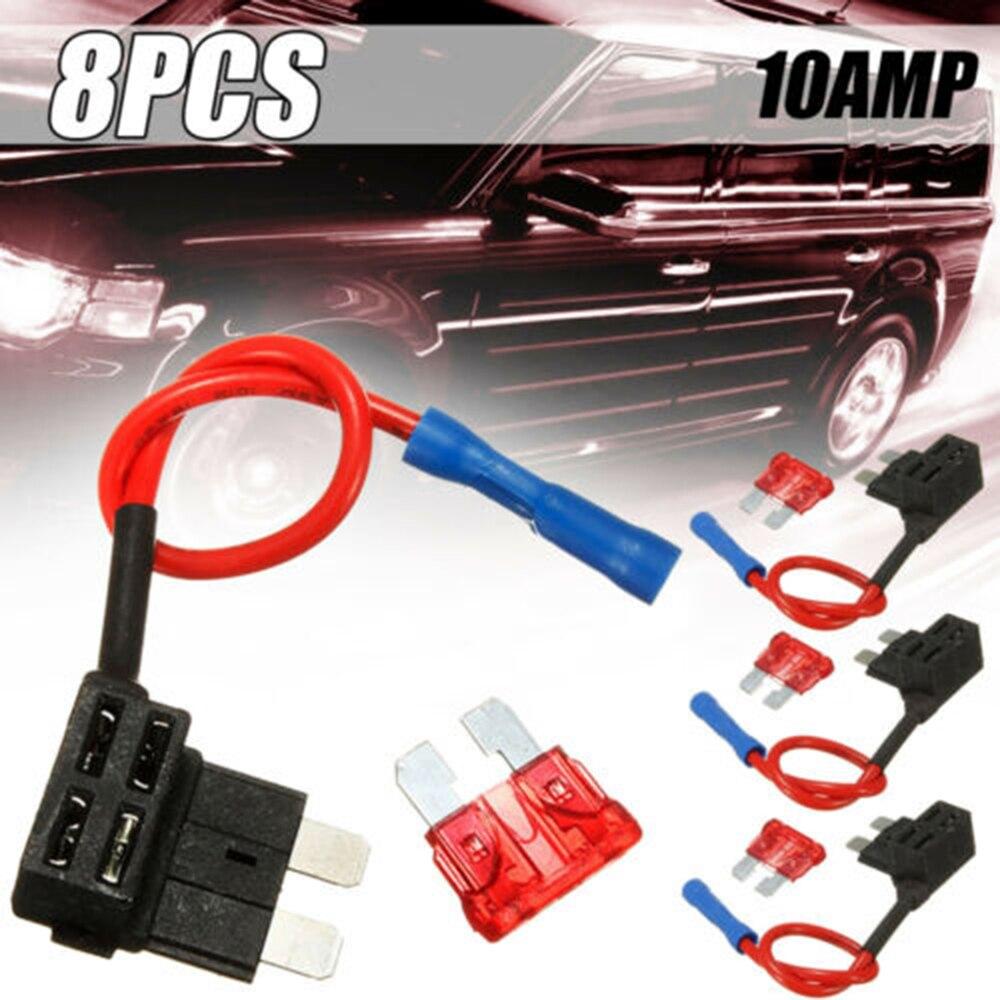 4 шт./компл. адаптер предохранителя для автомобильного адаптера Add-a-circuit стандарт ATO ATC авто держатель предохранителя замены