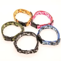 new camouflage pet traction collar nylon dog collar adjustable pet dog collars for small medium and large dogs size s m l xl