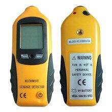 Detector Digital de fugas de radiación de microondas LCD medidor de fugas probador con alarma 0-9,99 mW/CM2 Detector de radiación portátil