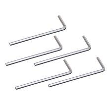 LNHF 5Pcs 4mm Metal Hex Key Allen Wrench - Silver