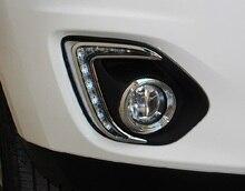 Светодиодные дневные ходовые огни eOsuns для Mitsubishi ASX 2013 2014, объектив проектора, высокое качество, беспроводной переключатель, диммер