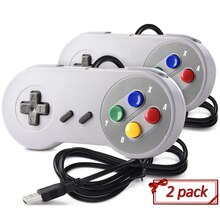 Controller USB Gamepad 2 pezzi Super Game Controller SNES USB classico Gamepad joystick di gioco per raspberry pi