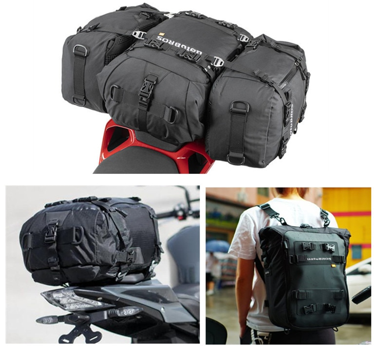 Uglybros Luggage Pack Multi-Function Waterproof Motorcycle Motocross Rear Seat Bag 10L 20L 30L Outdo