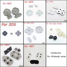 1X 8 modèle pour NDS NDSL NDSI LL XL 3DS nouveau 3DS SNES NES WII ensemble de boutons en caoutchouc conducteur pièce de rechange pour DS Lite DSL