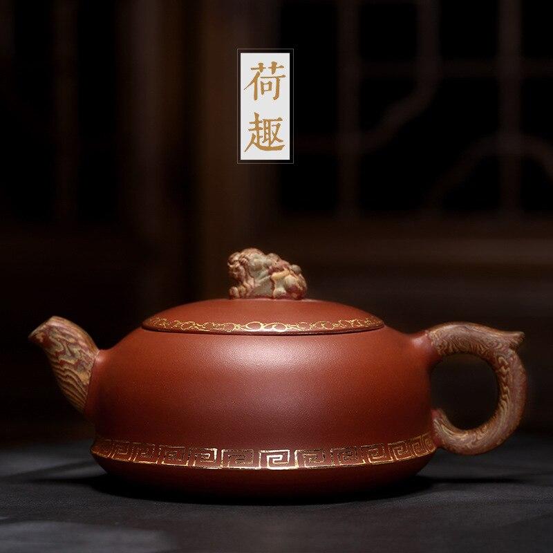 الطلاء أوصى رسم HeCu جميع اليد الشاي منزل كبير عالية الجودة طقم شاي هدية إبريق الشاي تزييفها الطين النحت الشاي حفل