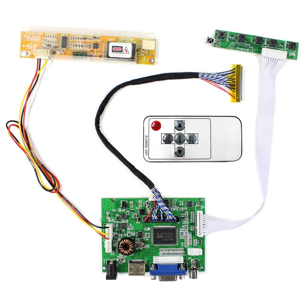 HDMI VGA AV Аудио ЖК-контроллер плата VS-TY2662-V196 для 15,4