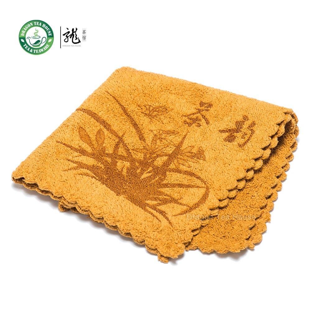 Toalla de paño de limpieza de mesa de té Gongfu china de alta calidad 30*30cm amarillo