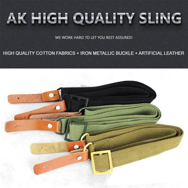 Ak 47 original arma sling airsoft caça militar tiro de couro ajustável tático ak rifle cinta cinto sobrevivência 2018