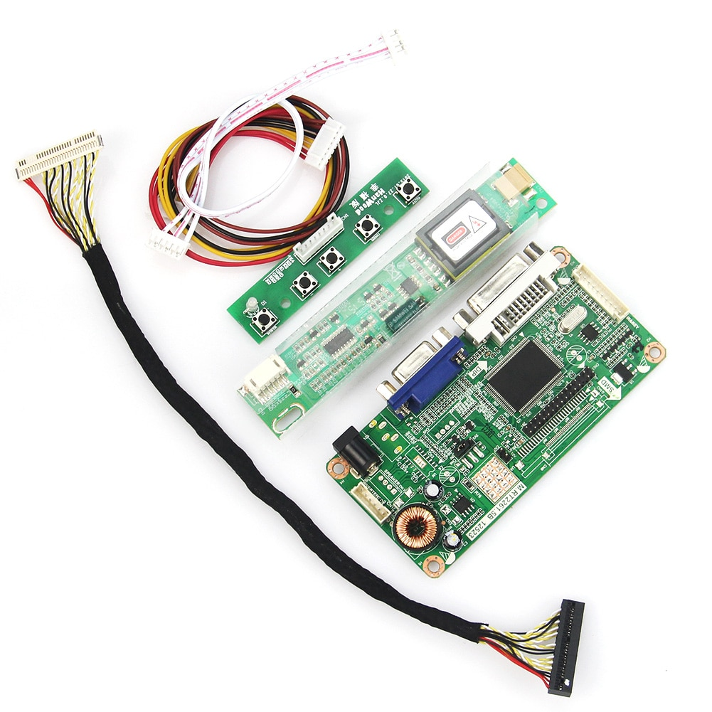 VGA + DVI M. r2261 M. RT2281 LCD/LED Controller Driver Board Para B154EW08 LTN154X3-L01 1280x800 LVDS Monitor de Reaproveitamento Laptop