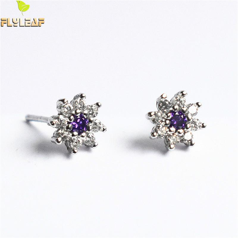 flyleaf 925 sterling silver rings for women cubic zirconia rotate creative fashion open ring femme fine jewelry wedding gift Flower Cubic Zirconia Real 925 Sterling Silver Stud Earrings For Women High Quality Fine Earings Fashion Jewelry Luxury Flyleaf