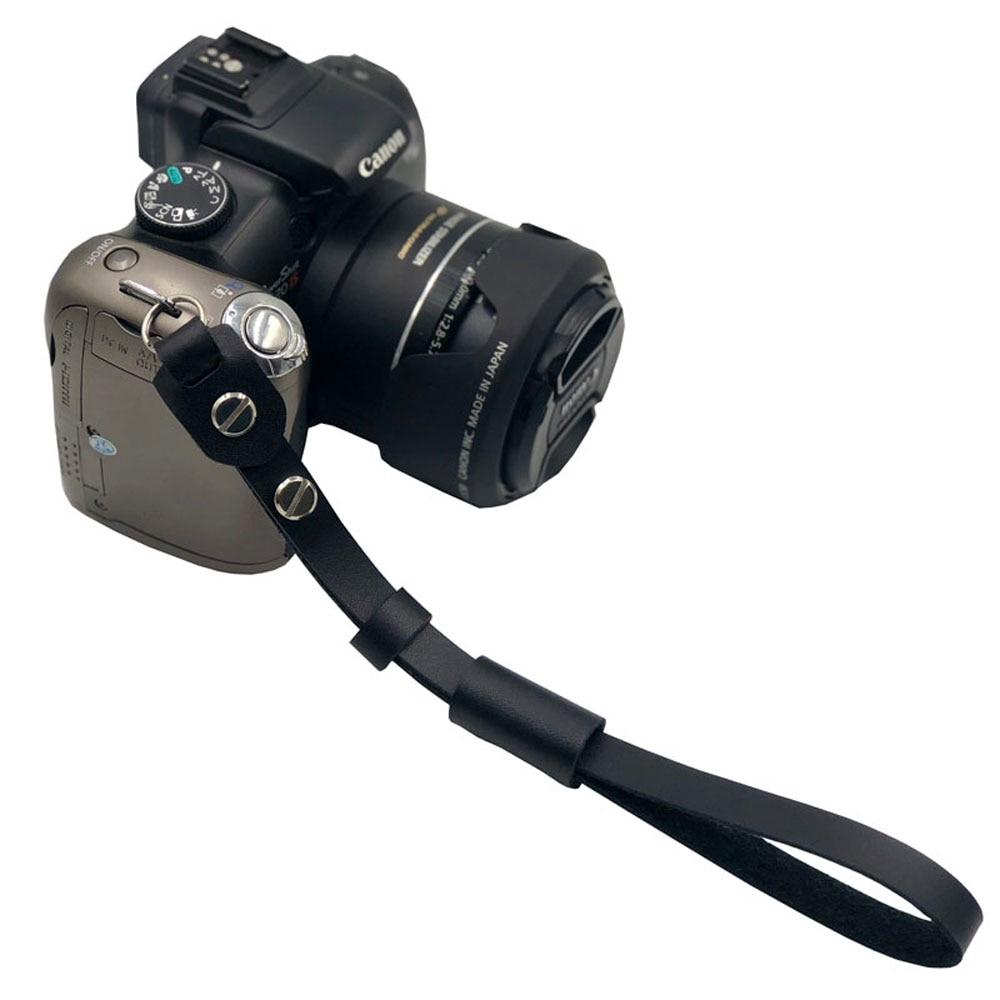 Câmera de couro alça de mão de pulso universal câmera carregando cinto alça de pulso banda de aperto para sony/lumix/nikon/canon