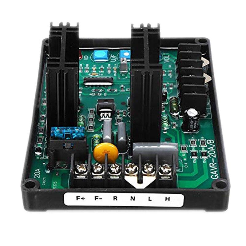 Gavr-20A av universal sem escova módulo regulador de tensão automática avr gerador 220/400vac proteção freqüência emi suppressi