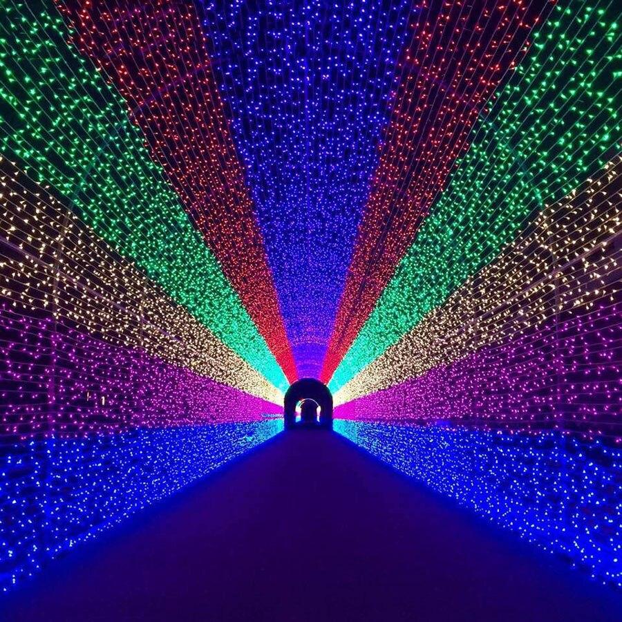 Guirnalda de luces de red LED BEIAIDI 8 Mode 8MX10M 2600, guirnalda de luces navideñas al aire libre, carámbano de cortina, guirnalda de hadas, luz de boda de vacaciones