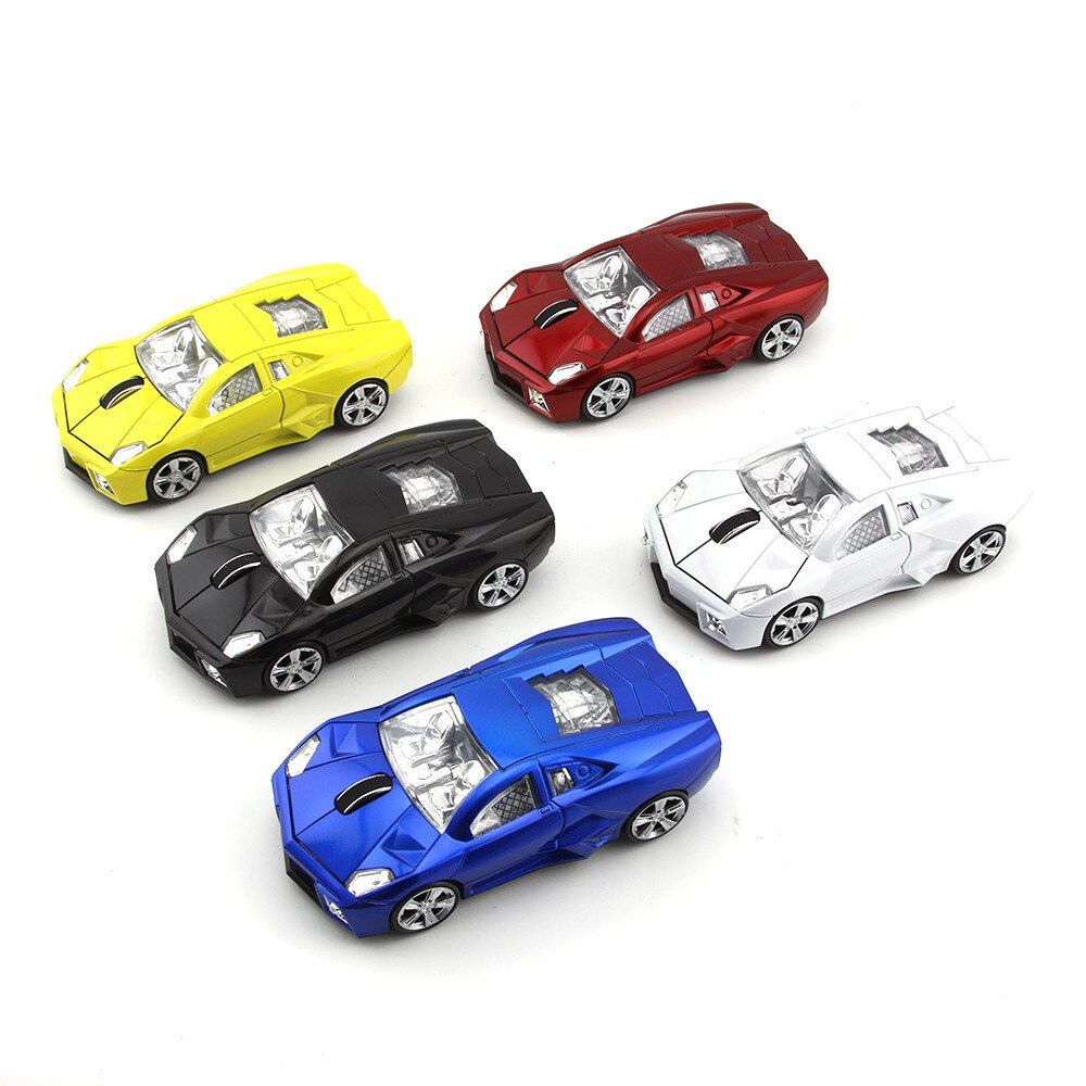 Wireless Mouse 3D Sport Car Shape Optical Computer Mause 2.4Ghz 1600DPI Mini Car Mice With USB Receiver For Laptop PC Desktop