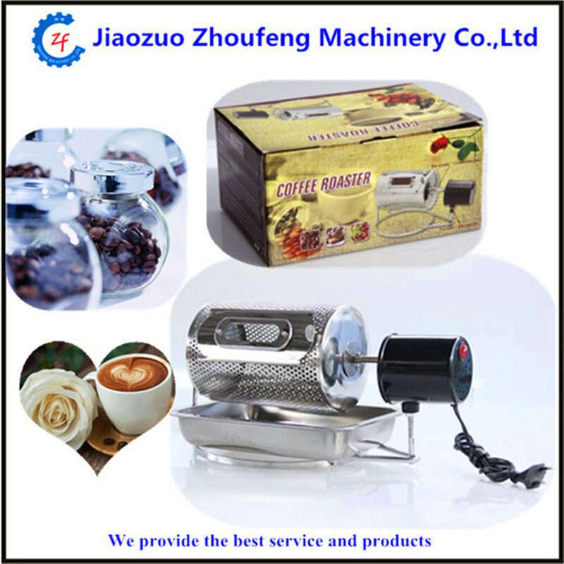 Home use mini electric stainless steel coffee roaster used in gas stove or electric stove 110v/220v  ZF