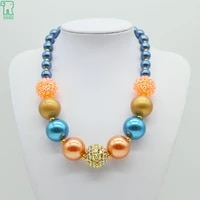 kids chunky bead necklace girls bubblegum pearl choker collares 2020 new fashion jewelry best friends gift kids bead necklace