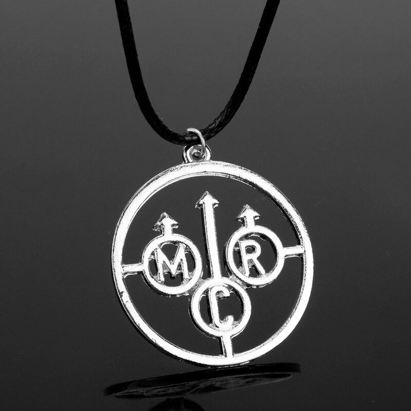 Dongsheng moda banda de rock meu romance químico música mcr carta gargantilha pingente colar para jóias masculinas-30