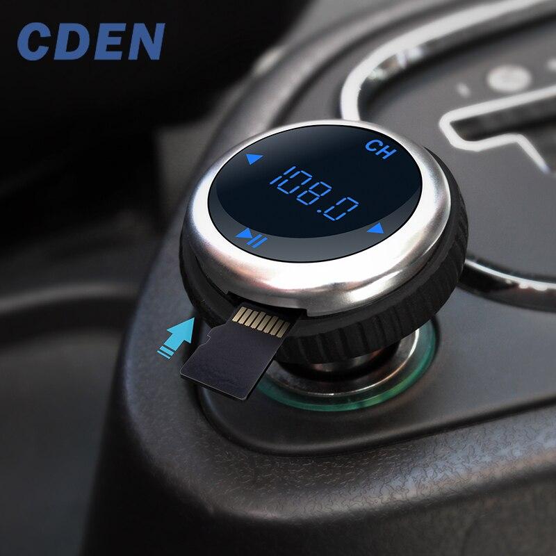 CDEN רכב FM משדר Bluetooth דיבורית לרכב MP3 נגן USB אלחוטי מטען FM Catv Carkit תמיכת TF כרטיס