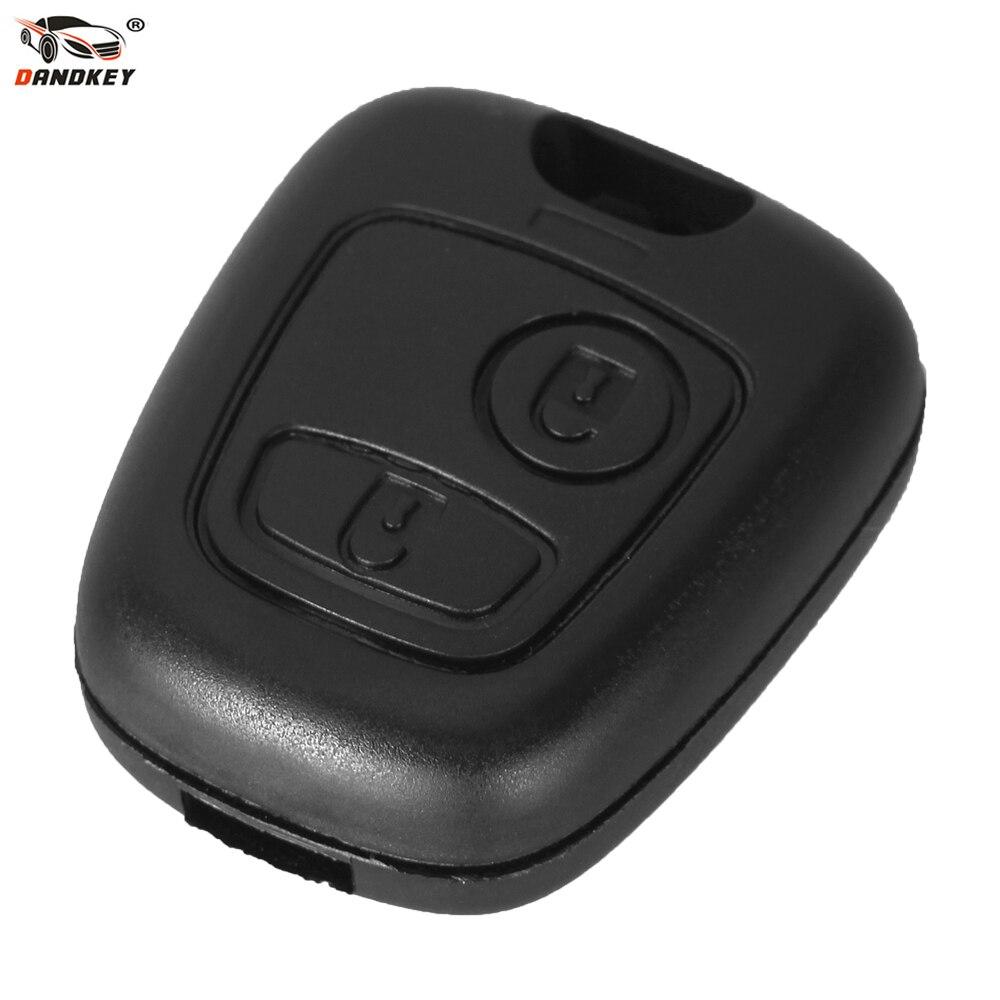 DANDKEY Remote Key Auto Key Fob Fall Shell Abdeckung Für Citroen C1 C4 XSARA Picasso Für Peugeot 107 207 307 407 206 306 406