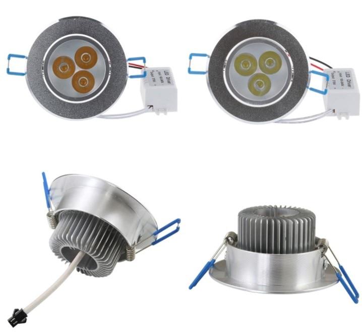 مصباح سبوت LED قابل للتعتيم ، 9 واط ، 12 واط ، 15 واط ، 21 واط ، 27 واط ، 36 واط ، تيار متردد 85-265 فولت