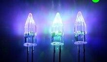 Eau claire fusées tête à travers le trou 5MM multicolore Flash rapide Diode LED pour léclairage de noël