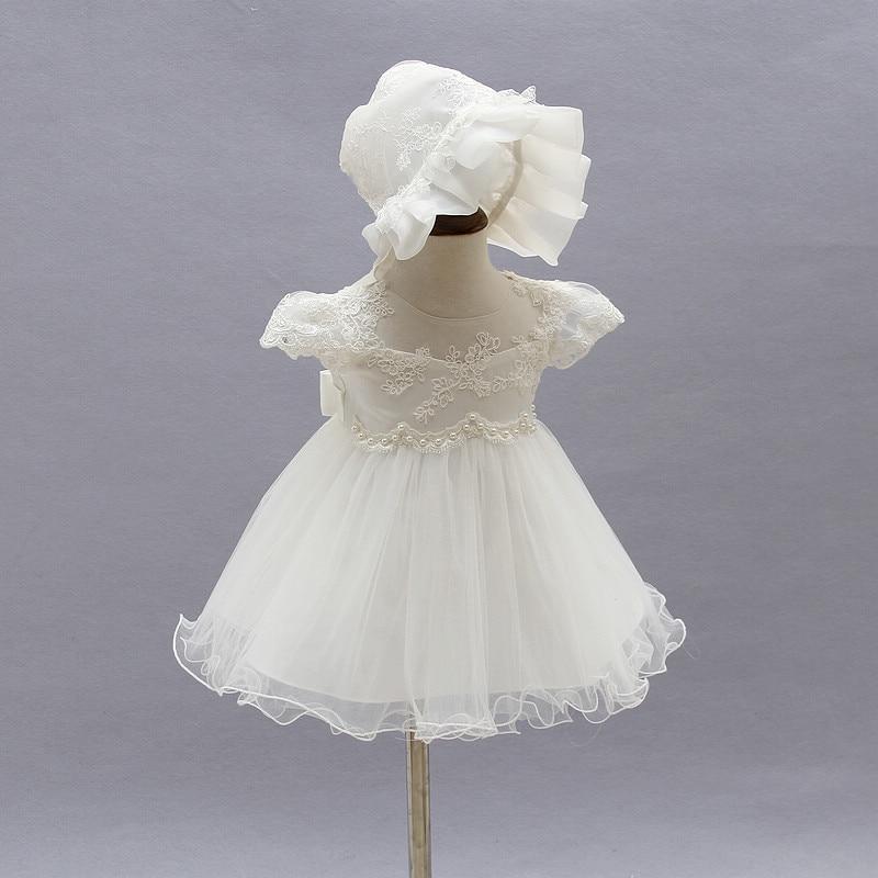 Vestidos de verano para niña, 1 año de cumpleaños, Vestido de princesa para niña, Vestido blanco para bautizo, Vestido de bautismo para recién nacido, Vestido Infantil