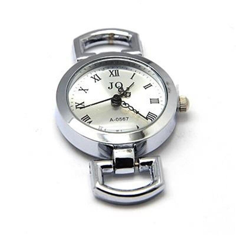 Componentes redondos lisos do relógio da cabeça do relógio da cara do relógio da liga para diy, platina, 28 29 29x26x9mm, furo 10x5mm