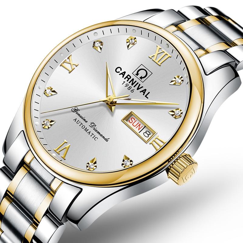 Reloj de lujo suizo para hombre, relojes de marca de carnaval, reloj mecánico automático para hombre, reloj luminoso, C-8612G-2 de zafiro