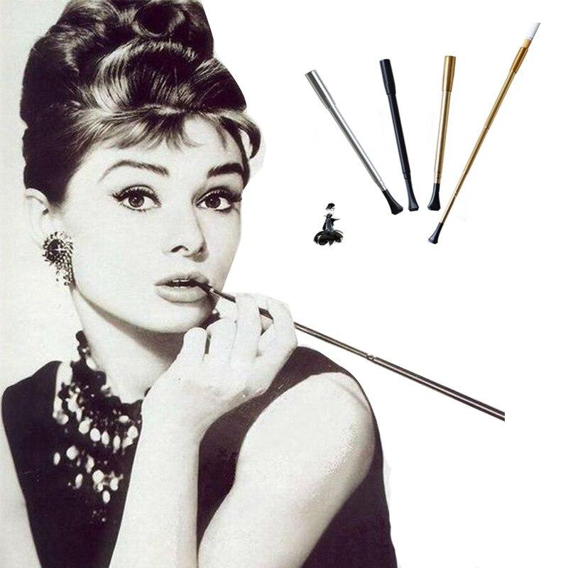 Momento acolhedor titular de cigarro longo bocal filtro de cigarro telescópico para mulher cigarro titular tubo de fumar yj372
