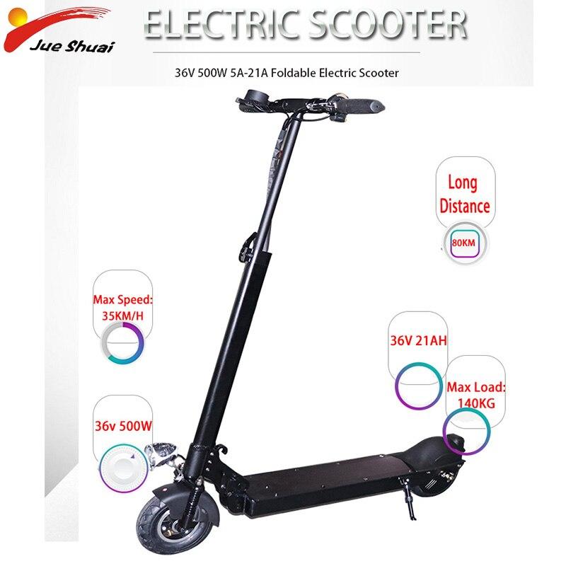 Patinete eléctrico plegable para Adulto, aeropatín de larga distancia, 80KM, 36V, 500W,...