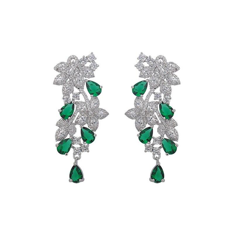 Design da árvore jóias inspiradas vintage étnico boêmio brilhante folha de cristal & argila polímero flor lustre brincos gle5481