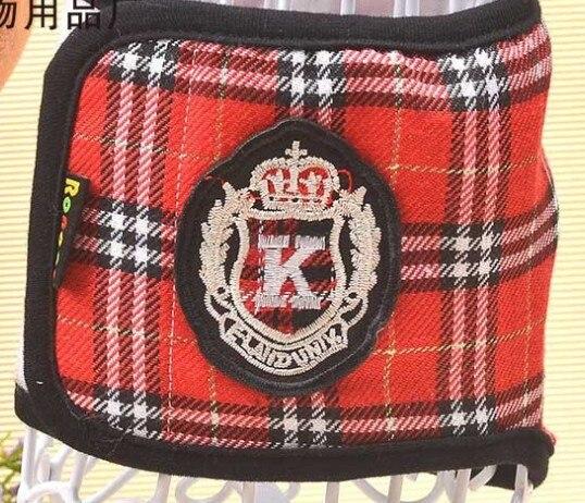 Darmowa wysyłka czerwona chusta korona klasyczne maniery Szkocja Zwierzęta fizjologiczne spodnie mężczyzna pies zwierzę pies majtki pieluchy 10 sztuk/partia