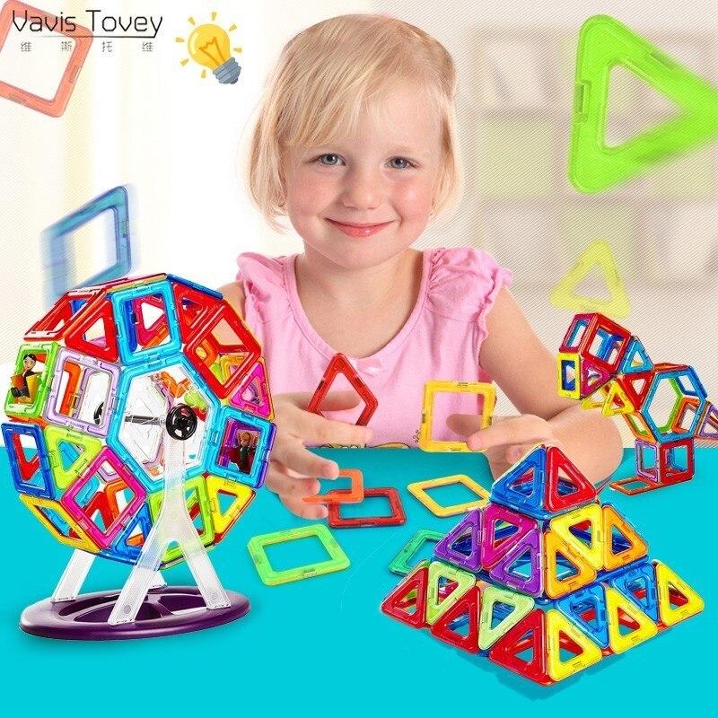 Vavis Tovey Big Constructor Set Kids Magnetic Designer Model Magnent Toy educational toys children Gifts