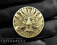 스크류 백 브래스 경감 님이 일본 드래곤 콘쵸 동전 지갑 바이커 트럭 leathercraft