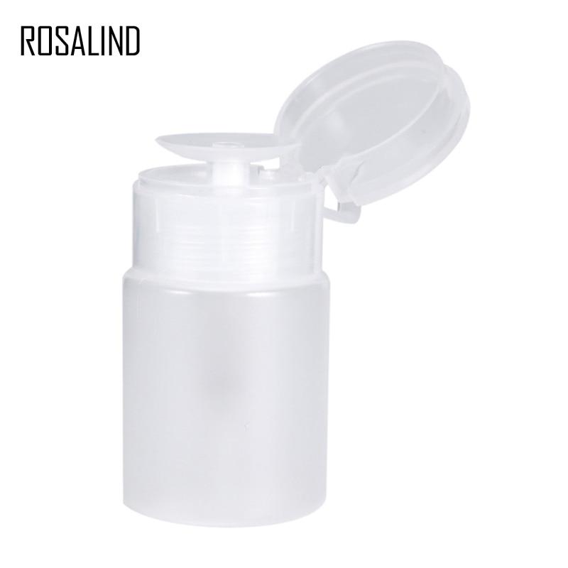 ROSALIND 1PCS Bomba Vazio Frasco Vazio Da Arte do Prego Prego Plástico Garrafa Bomba Polonês Clear Gel UV Remover cleaner Vazio garrafa