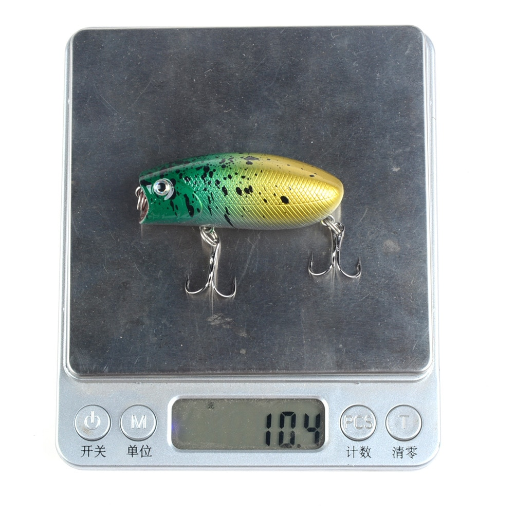 4 Pcs 4 Colors Popper Lure Cranbait Minnow Fishing Bait Freshwater Fishing Tackle Wobblers 55mm 10.4g Topwater enlarge