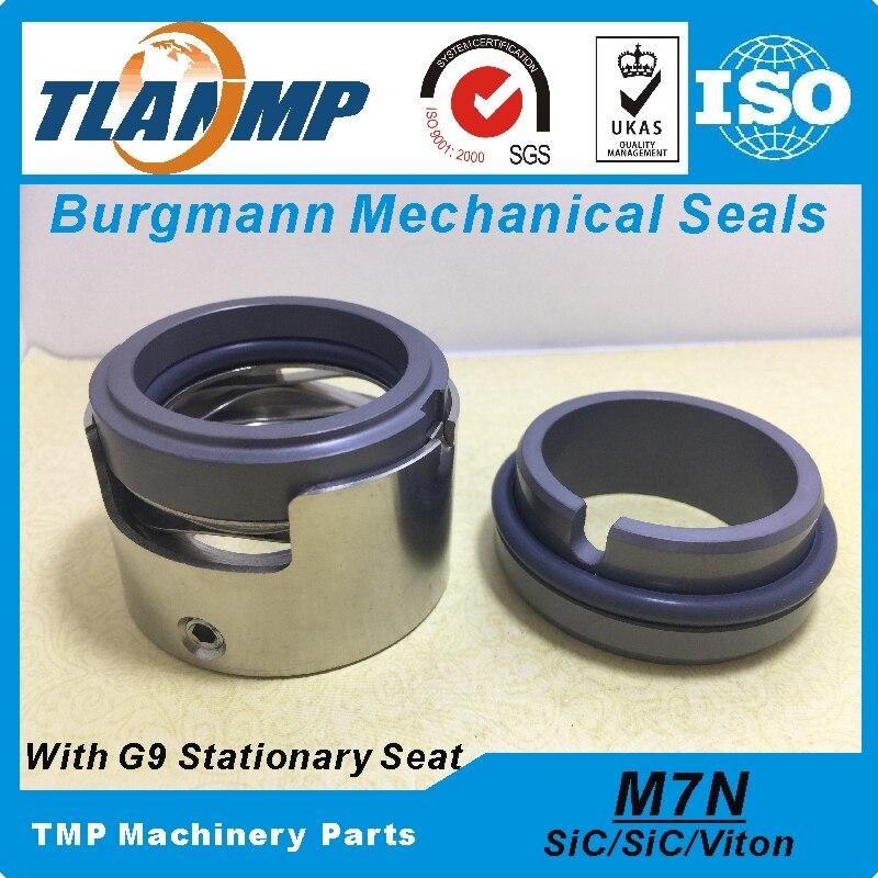 M7N-63 (M7N/63-G9) Burgmann TLANMP uszczelnienia mechaniczne dla wału rozmiar 63mm pompy z G9 stacjonarne siedzenia (materiał SIC/SIC/VIT)