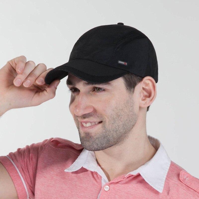 Мужская Непринужденная шапка на бретелях, сетчатая шапка с шариком, регулируемая шапка для выступлений, Мужская Регулируемая шапка для пап...