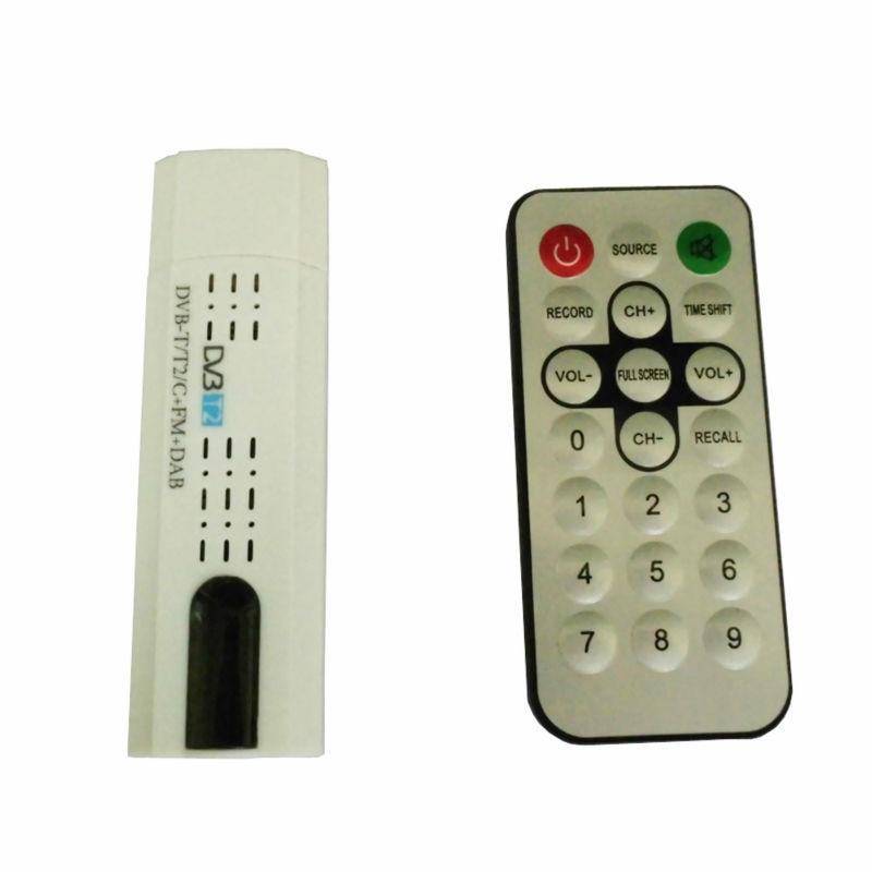 Digital DVB T2 USB TV Stick sintonizador con antena de Control remoto USB2.0 HDTV receptor para DVB-T2 DVB-C FM DAB DVB-T2 usb stick