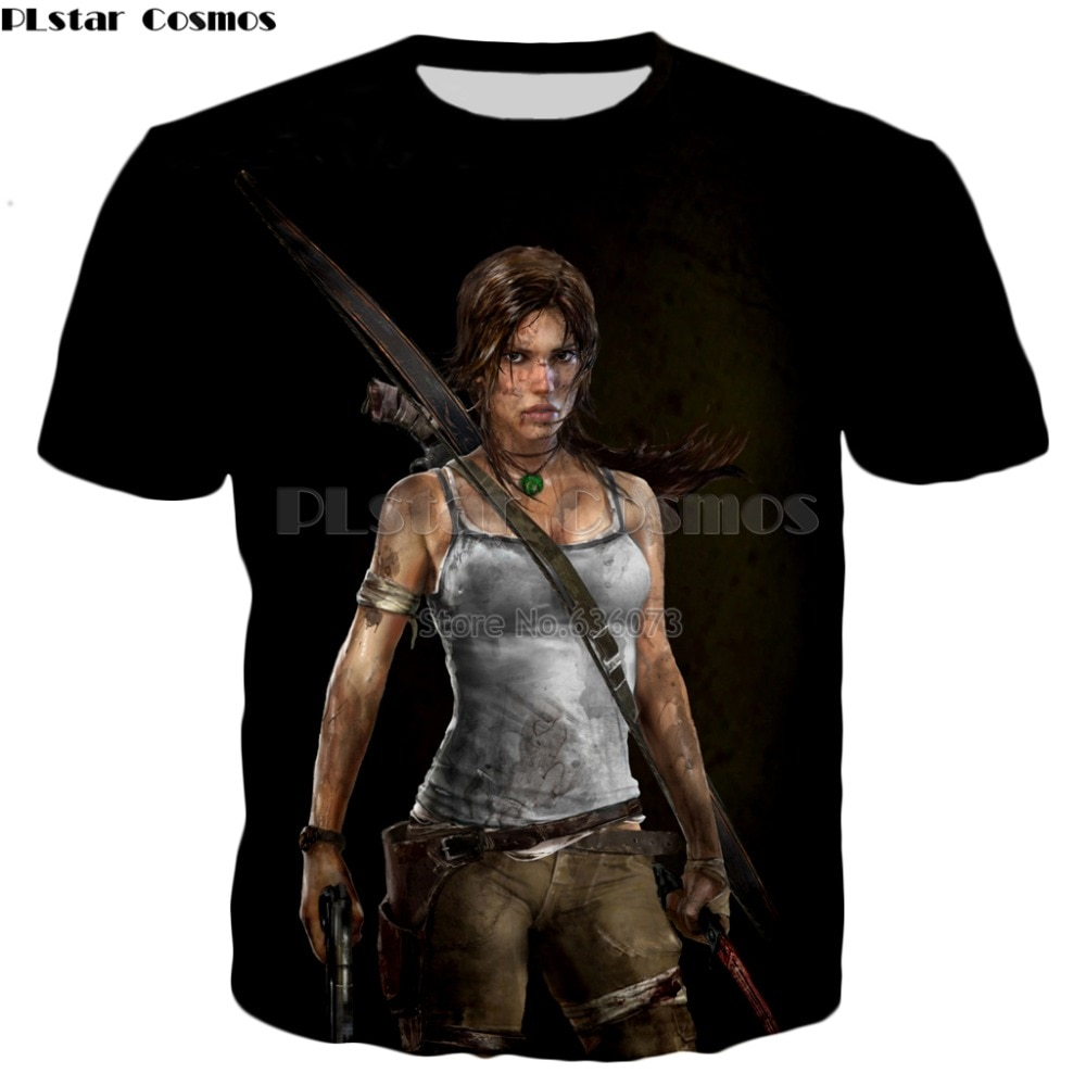 PLstar Cosmos Drop shipping 2018 Top games T shirts Men/Women 3d t-shirt game Tomb Raider Print summer style casual t shirt
