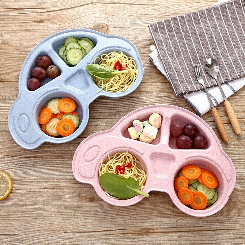 Детская посуда для малышей, мультипликационная форма автомобиля, пластины, экологически отделенные Детские тарелки для продуктов, детская посуда, лоток