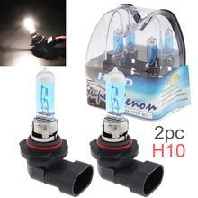 Ampoule antibrouillard pour voitures   2 pièces H10 42W 6000K, lumière blanche Super brillante, lampe halogène au xénon, pour véhicules SUV