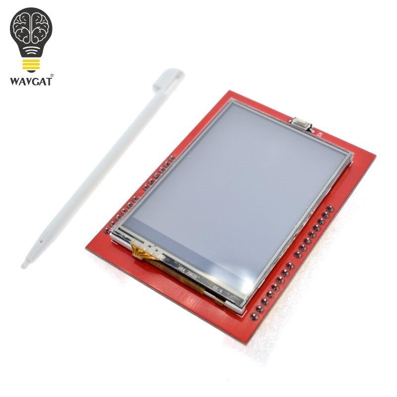 Wavgat lcd módulo tft 2.4 polegada tft lcd tela ili9341 drivers para arduino uno r3 placa e suporte mega 2560